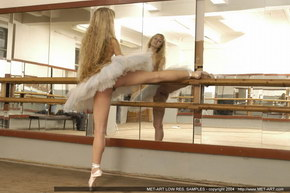 teen nude in ballerinas